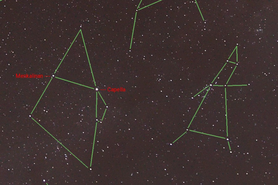 Sternbild Fuhrmann Sterne