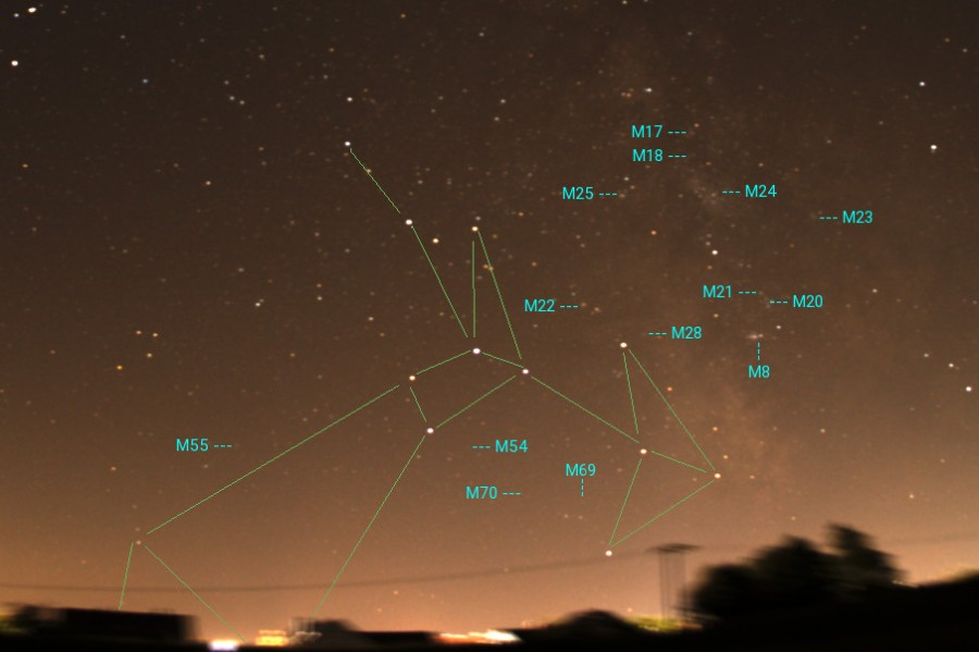 Sternbild Schuetze deepsky Messier