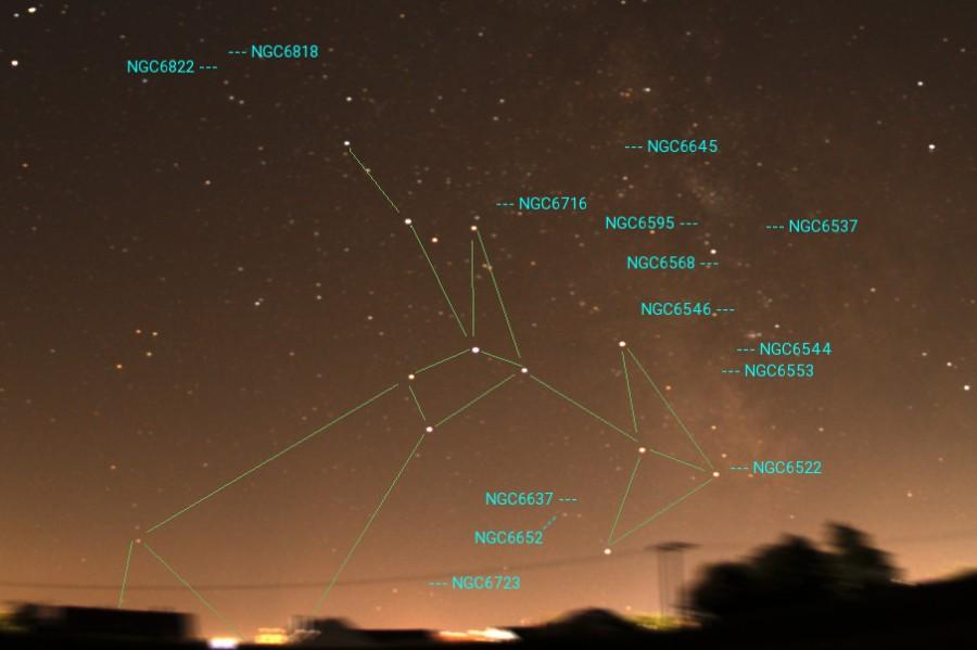 Sternbild Schuetze deepsky NGC