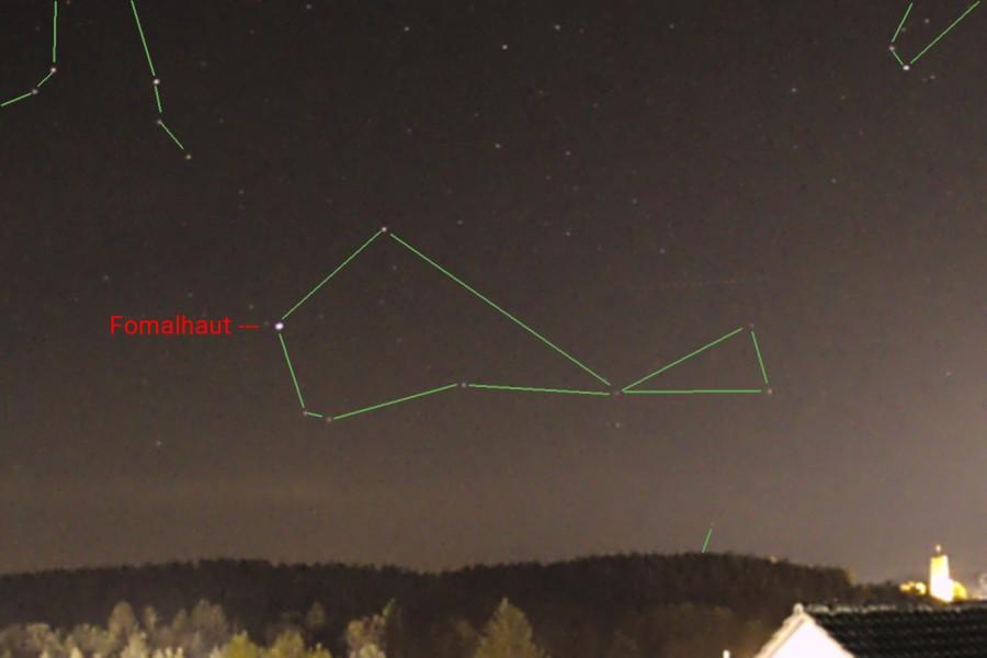 Sternbild Suedlicher Fisch Kranich Sterne