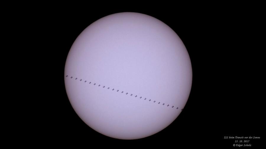 ISS Transit Sonne